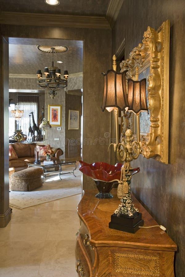 Ornate Table Lamp Chandelier Stock Photo