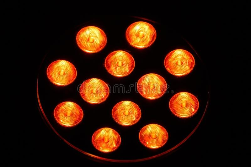 LEDs. A lamp with 12 single light emitting diodes royalty free stock image