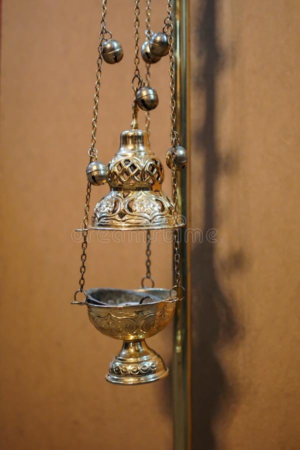 Lamp stand Church. Christendom en geloof. Religieuze tempel royalty-vrije stock fotografie