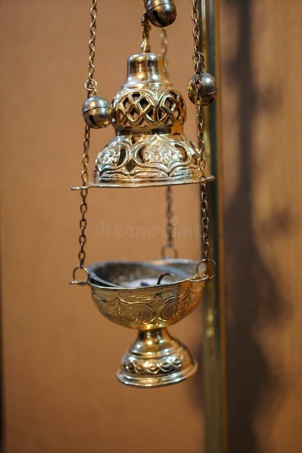 Lamp stand Church. Christendom en geloof. Religieuze tempel stock afbeelding