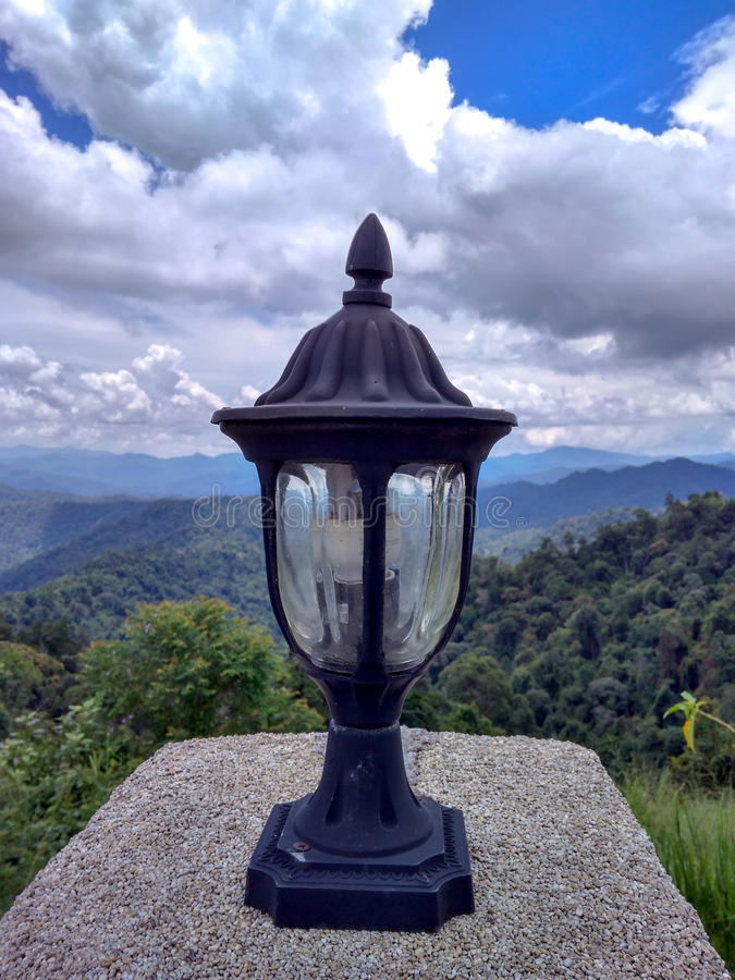 Lamp with Stunning view stock images