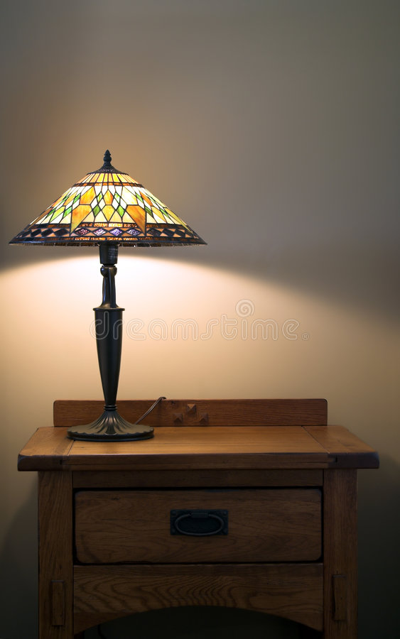 Lamp On Table Royalty Free Stock Photography