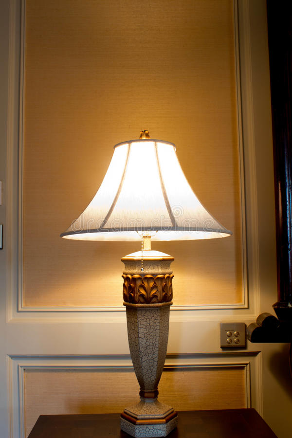 Lamp on the table