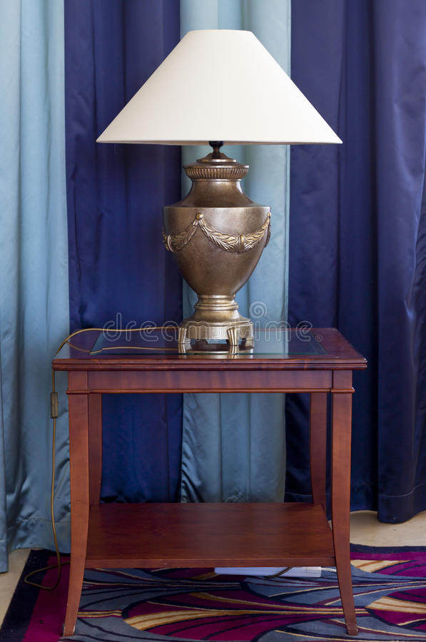 Lamp On Table Royalty Free Stock Image