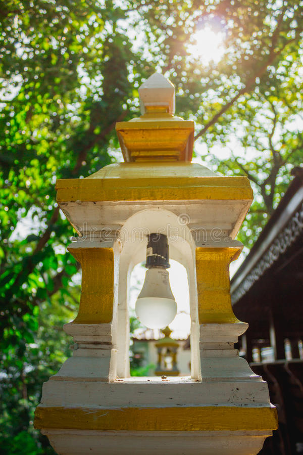 Lamp in the temple royalty free stock photos