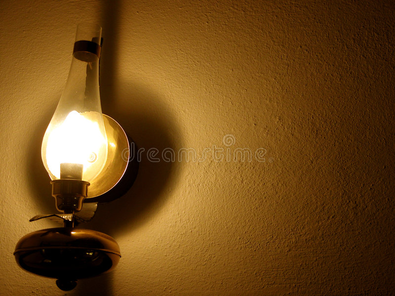 lamp wall στοκ εικόνες