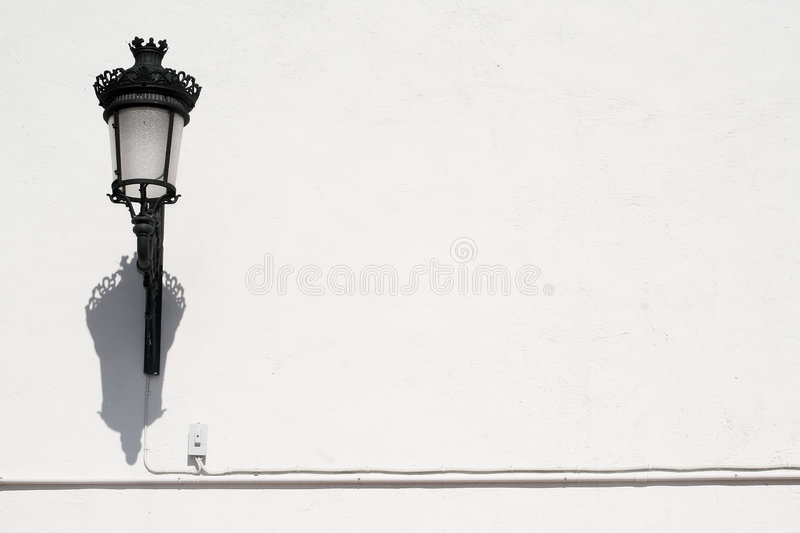Lamp and wall royalty free stock images