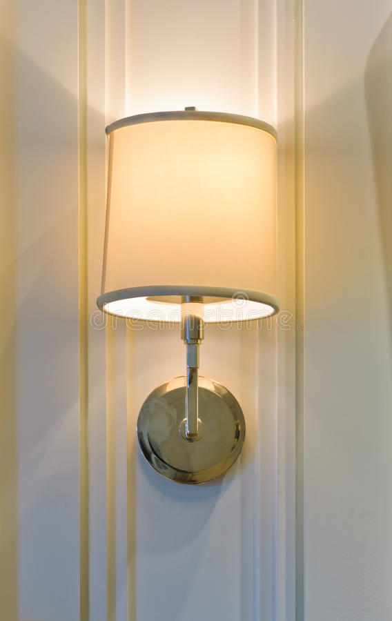 Lamp On Wall Stock Image