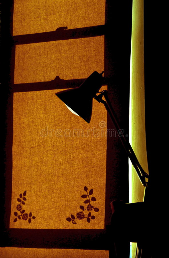 Lamp & Window Shade Royalty Free Stock Photo