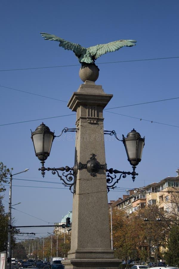 Lampa över bron royaltyfri fotografi