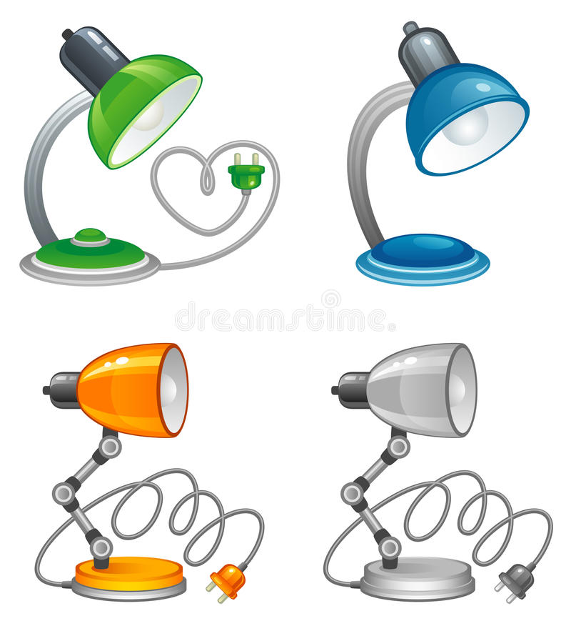 lampa royaltyfri illustrationer