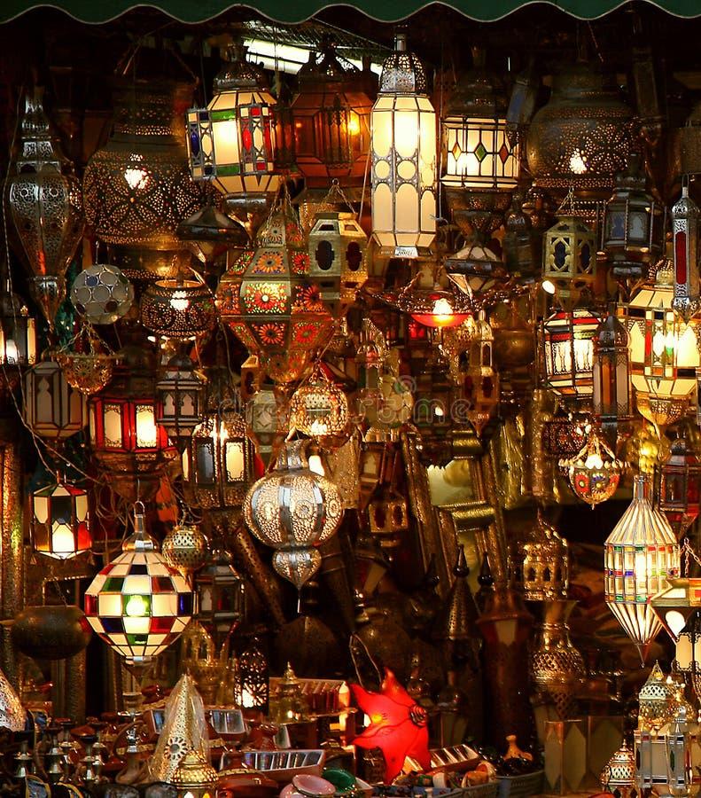 lampa arabscy lampiony zdjęcie royalty free