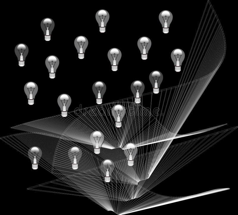 lampa Elektricitet och struktur av liv stock illustrationer