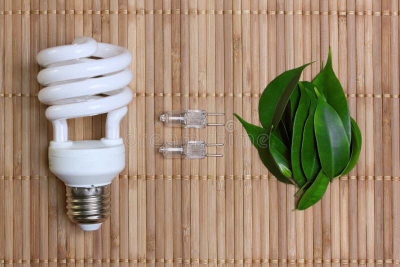 lampa för energi för kulabegreppseco arkivfoton