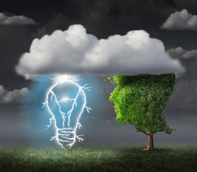 lampa för idé för sedelkulaaffär över royaltyfri illustrationer