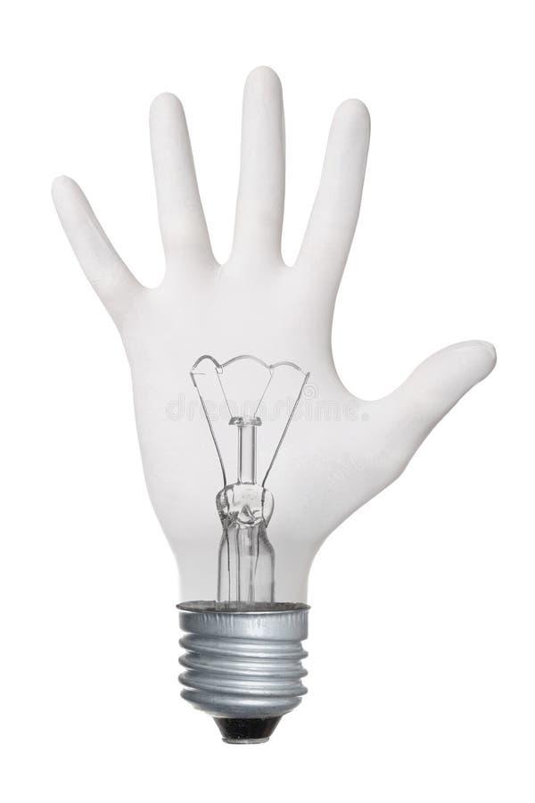 lampa för kulagesthand royaltyfria bilder