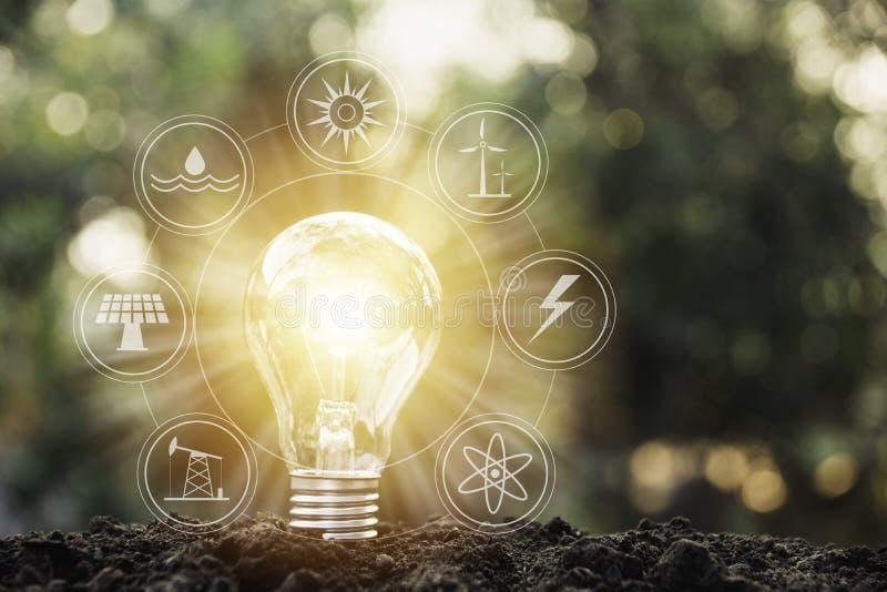 lampa för kulahandholding Innovation och idérikt begrepp vektor illustrationer