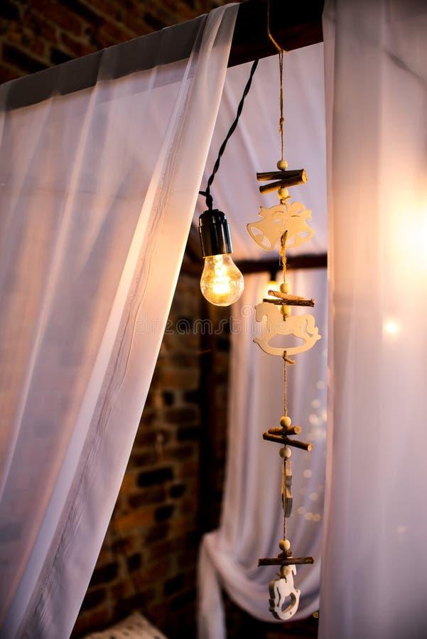 Lampa för ljus för markisträramsäng, dröm- stoppare, dekorativ leksak royaltyfria bilder
