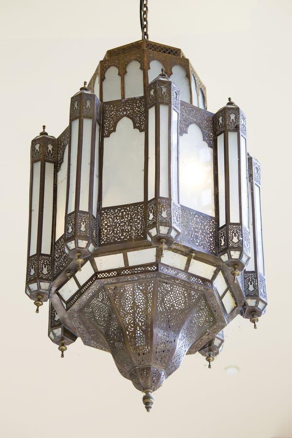 Lampa för tappningart décotak fotografering för bildbyråer