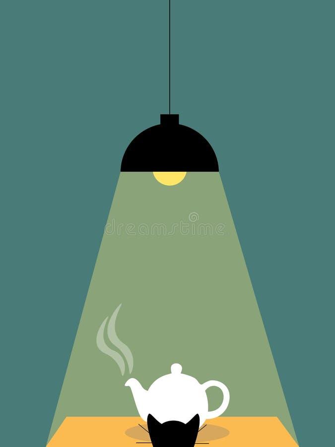 Lampa i czajnik royalty ilustracja
