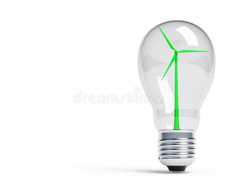 lampa mal wind royaltyfri illustrationer