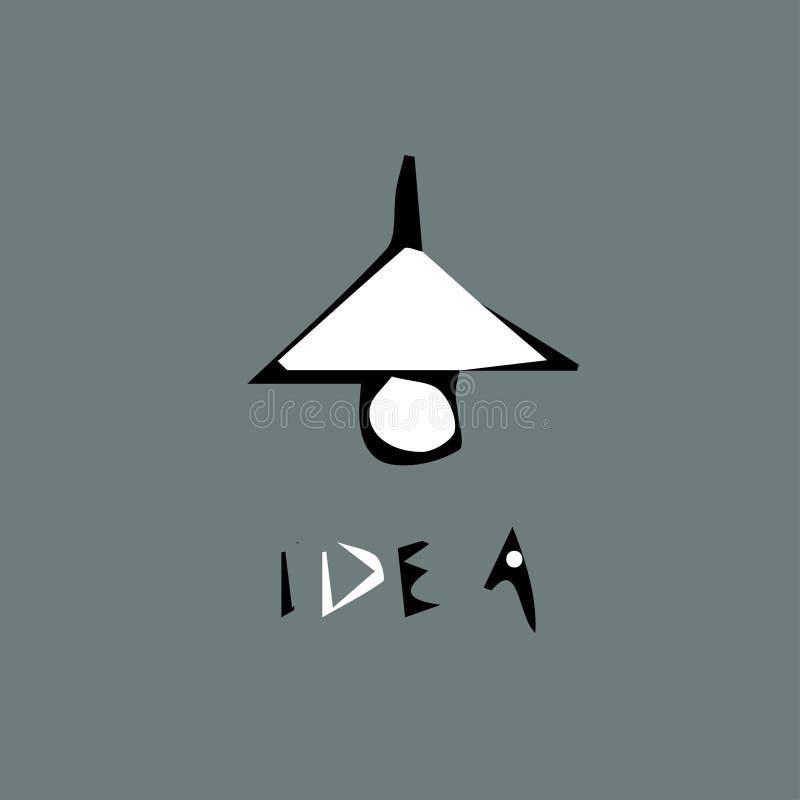 Lampa och ljuskrona med inskriftid? stock illustrationer