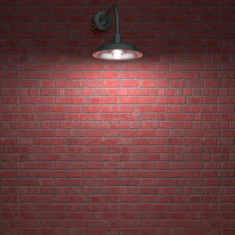 Lampa Przez Noc Obraz Stock