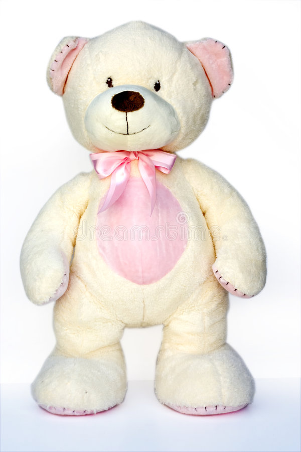 lampa - rosa nallewhite royaltyfri bild