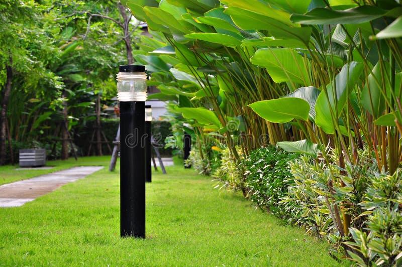 Lampa w ogródzie obraz royalty free