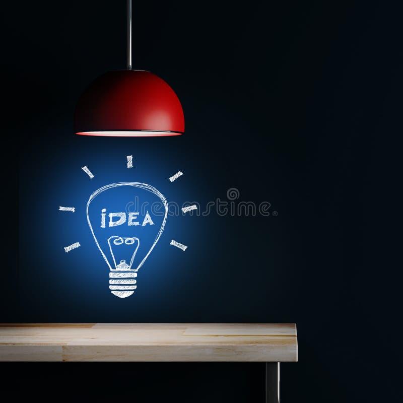 Lampa wewnętrzna dekoracja ilustracja wektor