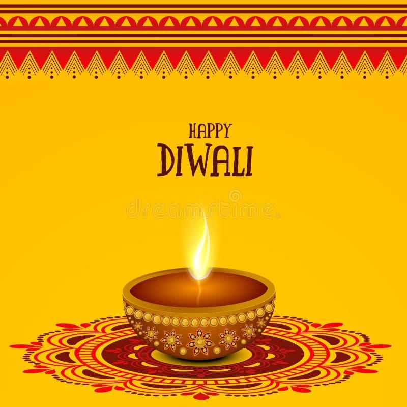 Lampada accesa creativa per la celebrazione felice di Diwali royalty illustrazione gratis