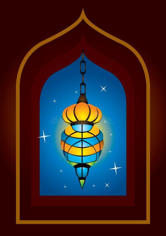 Lampada araba complicata illustrazione vettoriale