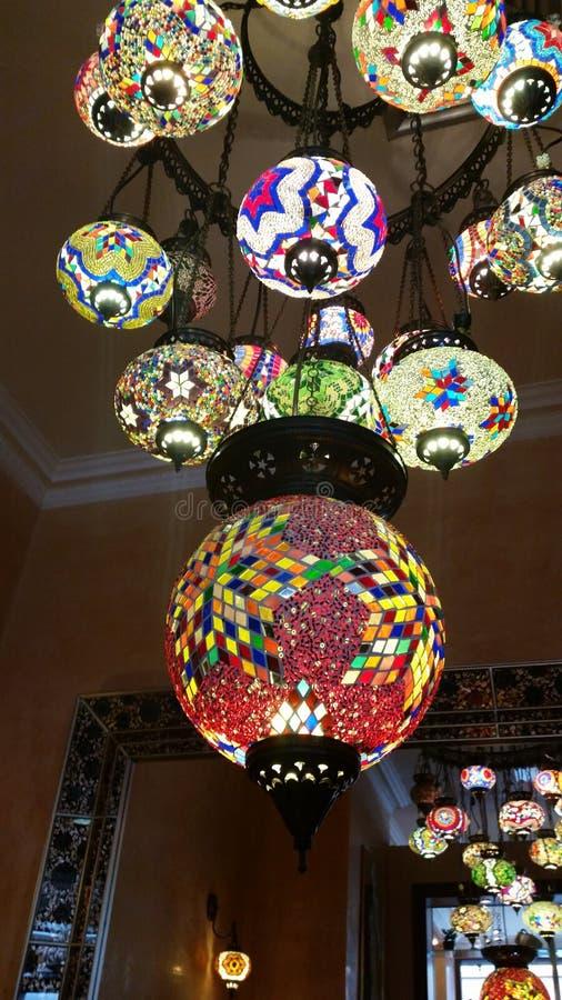 Lampada araba variopinta di stile immagini stock
