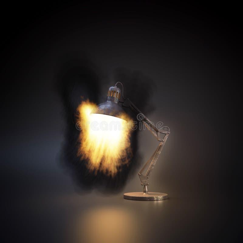 Lampada Burning fotografie stock