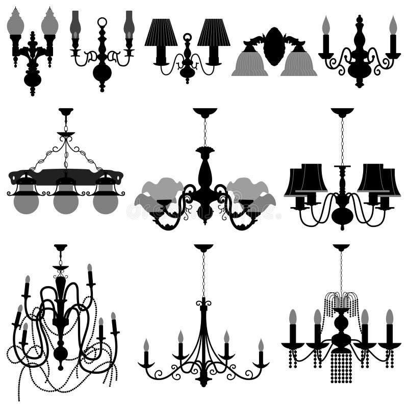 Lampada chiara del lampadario a bracci royalty illustrazione gratis