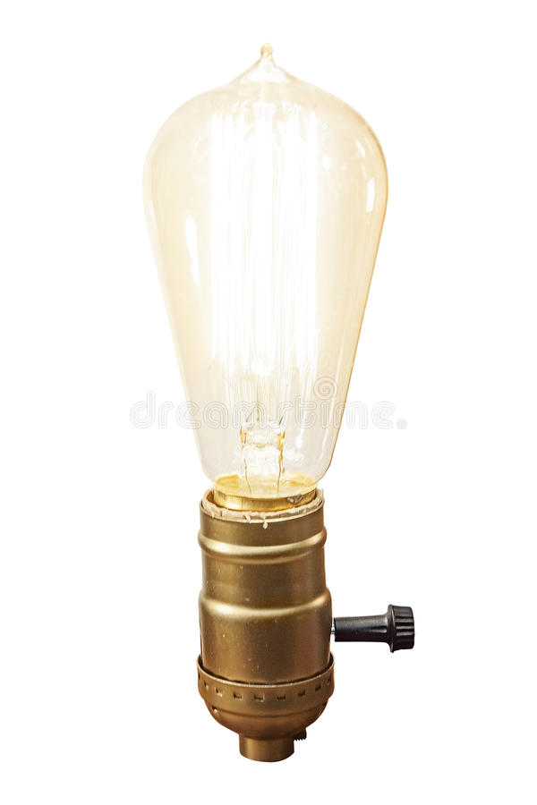 Lampada d'annata della lampadina fotografie stock libere da diritti