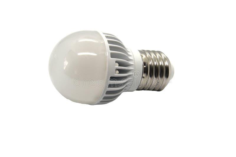 Lampada del LED su un fondo bianco fotografie stock libere da diritti