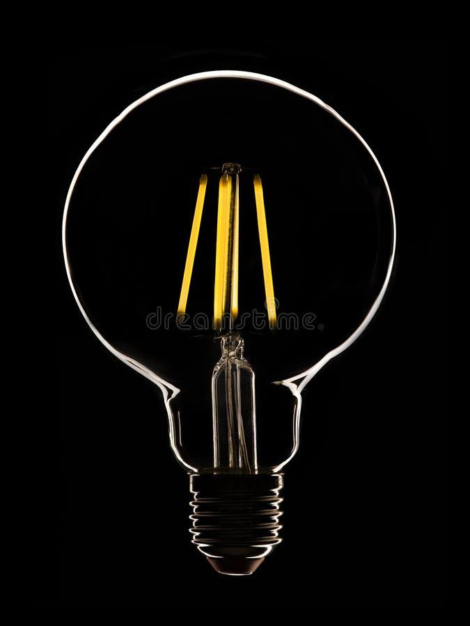 Lampada del LED sul nero fotografia stock libera da diritti
