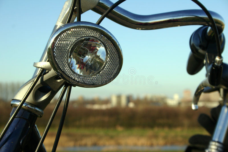 Lampada della bicicletta immagine stock