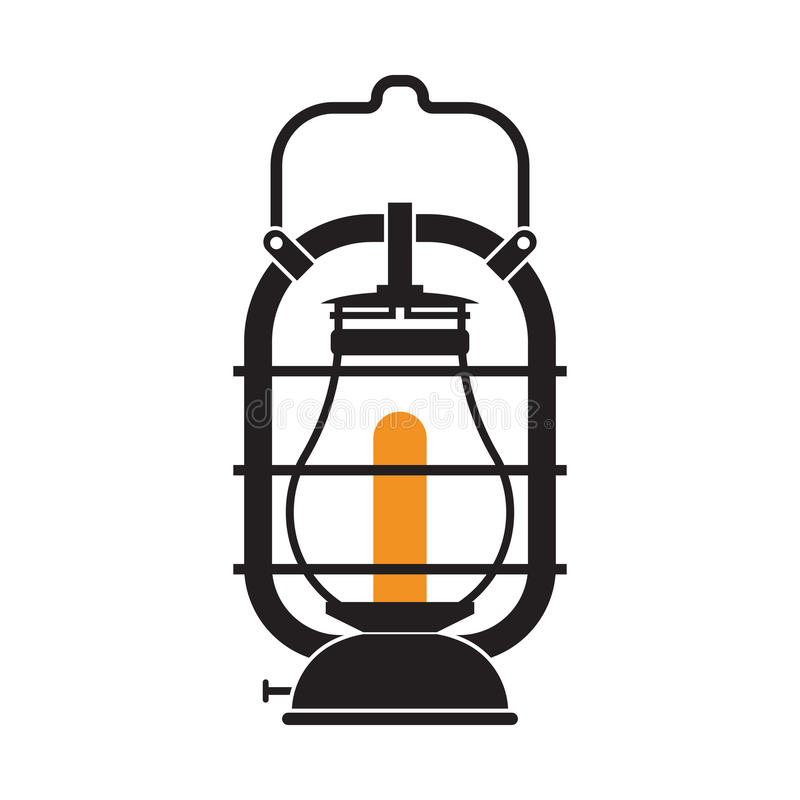 Lampada di campeggio di gas o della lanterna illustrazione di stock