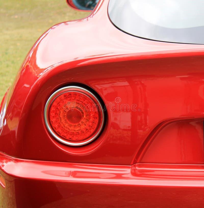 Lampada di coda italiana classica moderna della parte posteriore dell'automobile sportiva immagini stock