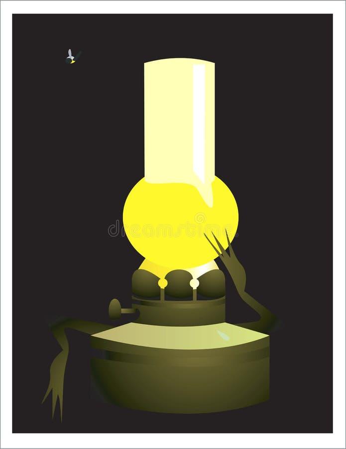 Lampada di olio illustrazione di stock