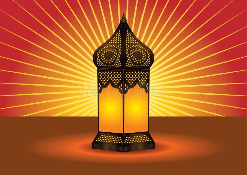 Lampada di pavimento islamica complicata variopinta royalty illustrazione gratis