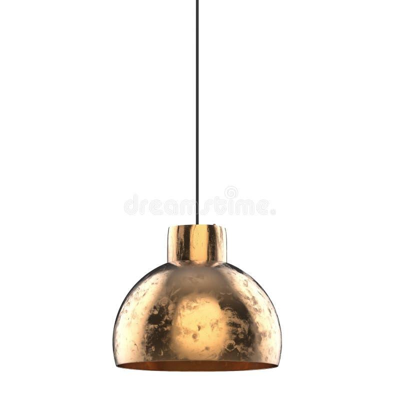 Lampada di pendente bronzea illustrazione di stock