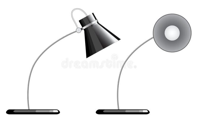 Lampada di scrittorio illustrazione di stock