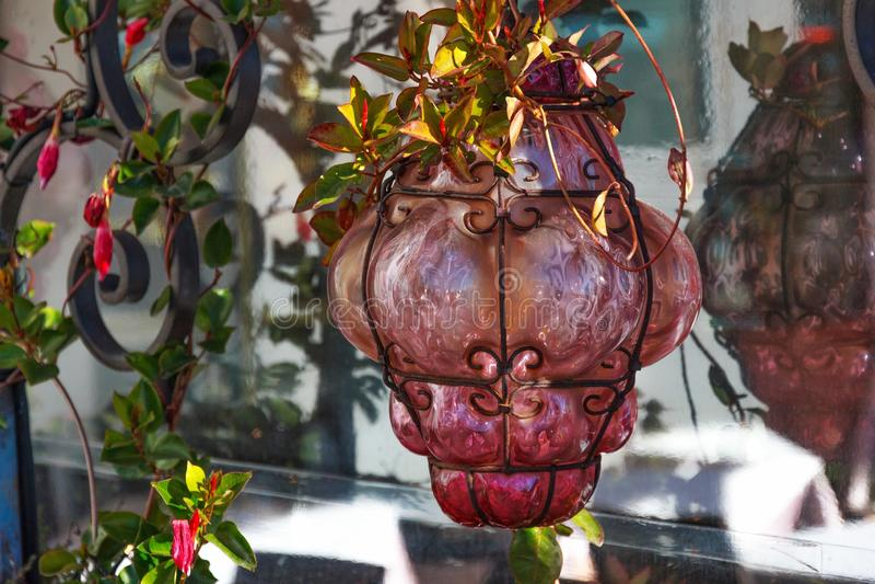 Lampada di vetro di Rose Venetian fotografie stock libere da diritti