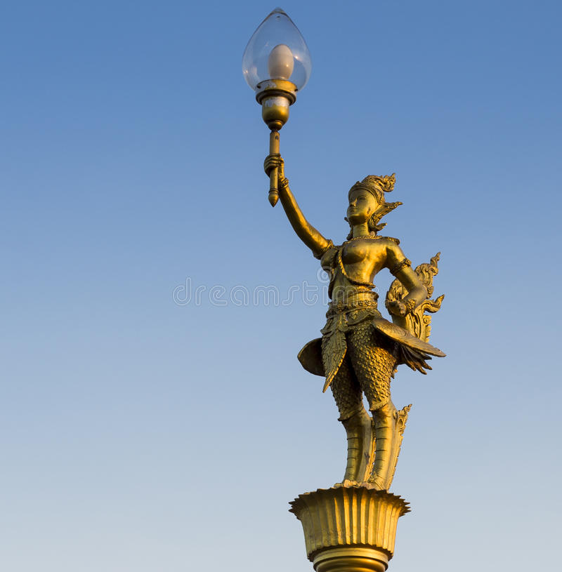 Lampada di via di Kinnaree fotografia stock libera da diritti
