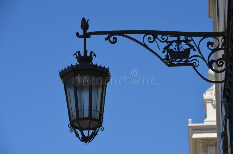 Lampada di via di Lisbona fotografie stock libere da diritti