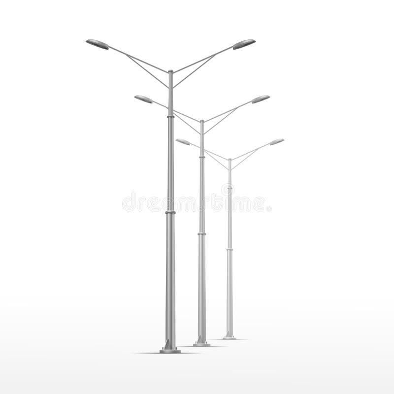 Lampada di via di vettore isolata su fondo bianco illustrazione vettoriale