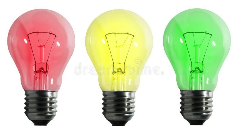 Lampada elettrica di colore fotografia stock libera da diritti